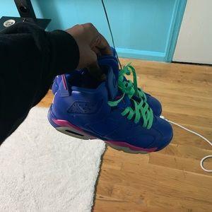"""2014 """"Game Royal"""" Jordan 6 Purple Pink & Lime"""